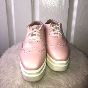 Shoes - PINK WEDGE SNEAKER SIZE 7